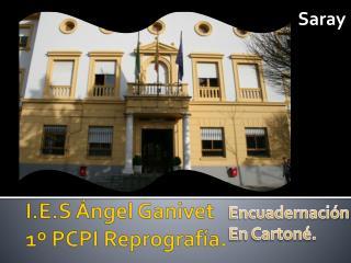 I.E.S Ángel Ganivet 1º PCPI Reprografía.