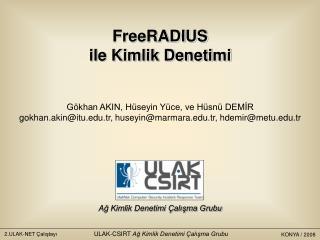 Ulaknet Çalıştayı 2008 / Konya