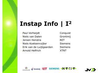 Instap Info   I 2
