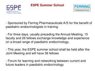 ESPE Summer School