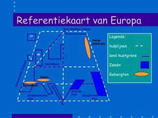 Referentiekaart van Europa