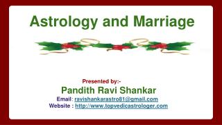 Astrology and Marriage