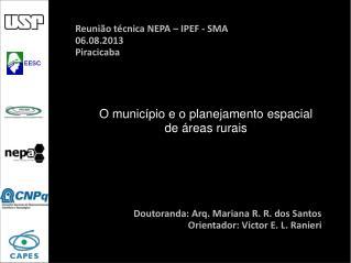 O município e o planejamento espacial de áreas rurais