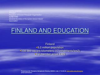 FINLAND AND EDUCATION