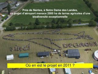 Où en est le projet en 2011 ?