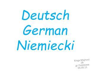 Deutsch German Niemiecki