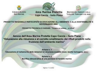 PROGETTO REGIONALE PARTECIPATO DI EDUCAZIONE ALL'AMBIENTE E ALLA SOSTENIBILITA' E GOVERNANCE 2008