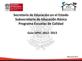 Guía SIPEC 2012- 2013