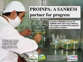 PROINPA: A SANREM partner for progress