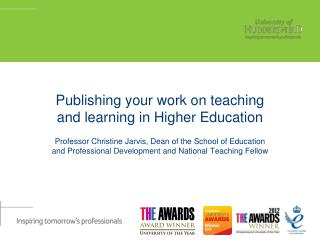 Publishing your work on teaching and learning in Higher Education