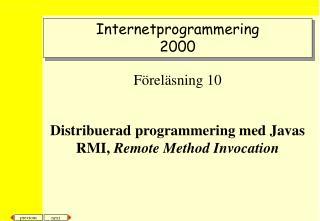 Internetprogrammering 2000