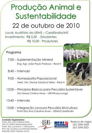 Produção Animal e Sustentabilidade
