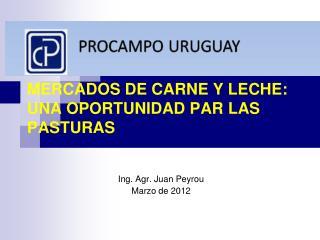 MERCADOS DE CARNE Y LECHE: UNA OPORTUNIDAD PAR LAS PASTURAS