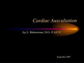 Cardiac Auscultation