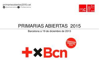 Barcelona a  19 de  diciembre de 2013