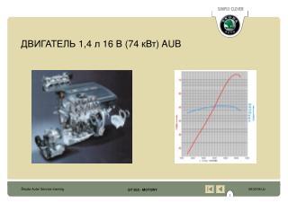 ДВИГАТЕЛЬ  1,4  л  16  В  (74  кВт ) AUB