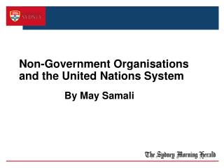 Non-Government Organisations and the United Nations System