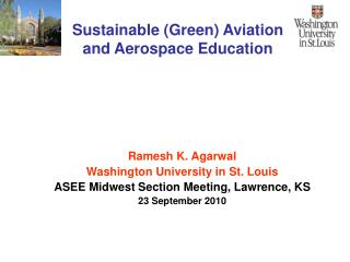 Sustainable Green Aviation and Aerospace Education