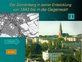 Der Sonnenberg in seiner Entwicklung von  1843 bis in die Gegenwart