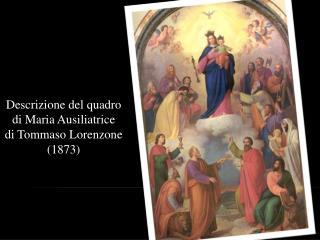 Descrizione del quadro di Maria Ausiliatrice di Tommaso Lorenzone (1873)