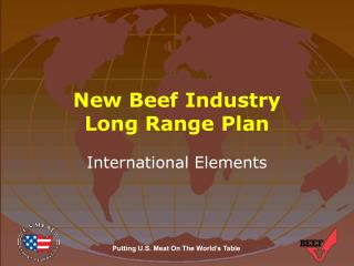 New Beef Industry Long Range Plan