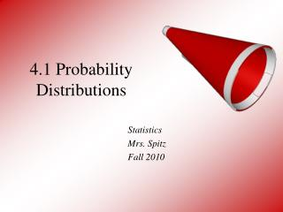 4.1 Probability Distributions