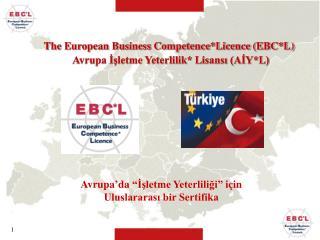 """Avrupa'da """"İşletme Yeterliliği"""" için Uluslararası bir Sertifika"""