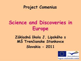Science and Discoveries in Europe