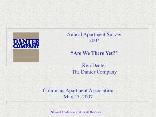 Annual Apartment Survey