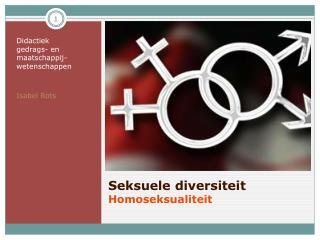Seksuele diversiteit Homoseksualiteit