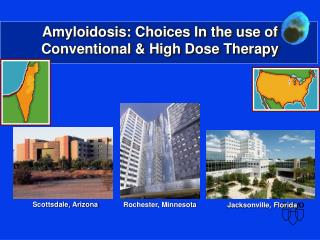 Amyloidosis: Choices In the use of Conventional & High Dose Therapy