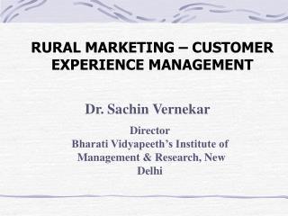 RURAL MARKETING – CUSTOMER EXPERIENCE MANAGEMENT