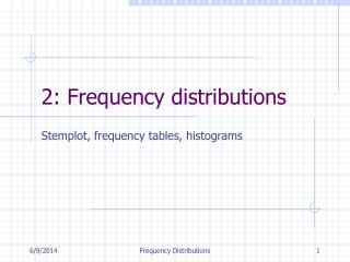 2: Frequency distributions
