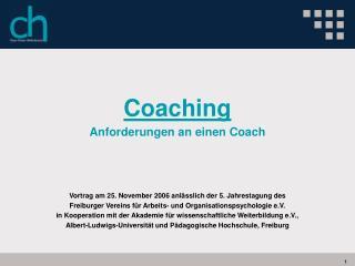 Coaching Anforderungen an einen Coach