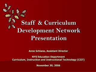 Staff & Curriculum Development Network Presentation