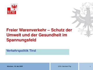 Verkehrspolitik Tirol