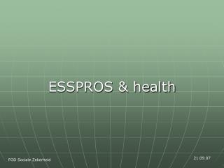 ESSPROS & health