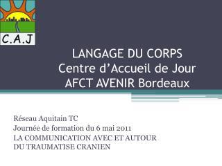 LANGAGE DU CORPS Centre d'Accueil de Jour AFCT AVENIR Bordeaux