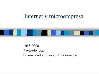 Internet y microempresa