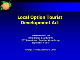 Presentation to Association of County  City Councils   Annual Conference    24th