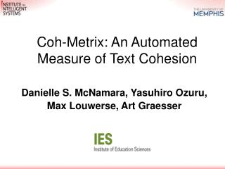 Coh-Metrix: An Automated Measure of Text Cohesion