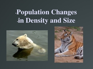 Density  Rate of Density Changes