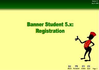 Banner Student 5.x: Registration