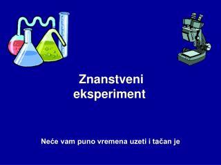 Znanstveni eksperiment