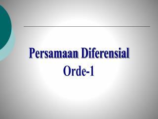 Persamaan Diferensial Orde-1