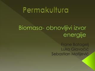Biomasa- obnovljivi izvor energije