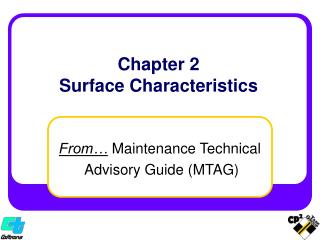 Chapter 2 Surface Characteristics