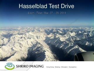 Hasselblad Test Drive