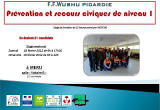 Stage week-end Samedi        18 février 2012 de 9h à 17h30
