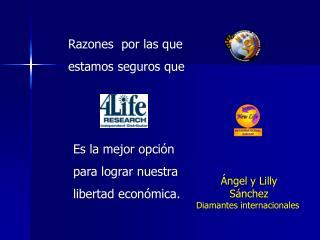 Ángel y Lilly Sánchez Diamantes internacionales